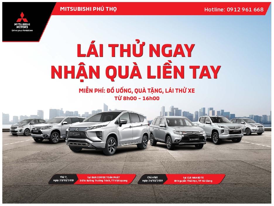 """Chương trình """"Lái thử ngay – Nhận quà liền tay"""" tại Tỉnh Hà Giang ngày 23&24/02/2019"""