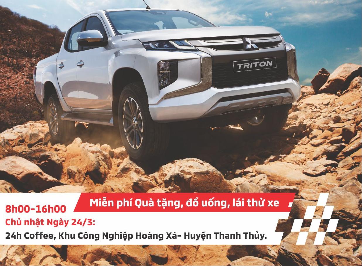 """Chương trình """"Lái thử xe cùng MITSUBISHI PHÚ THỌ"""" tại Huyện THANH THỦY ngày 24/3/2019"""