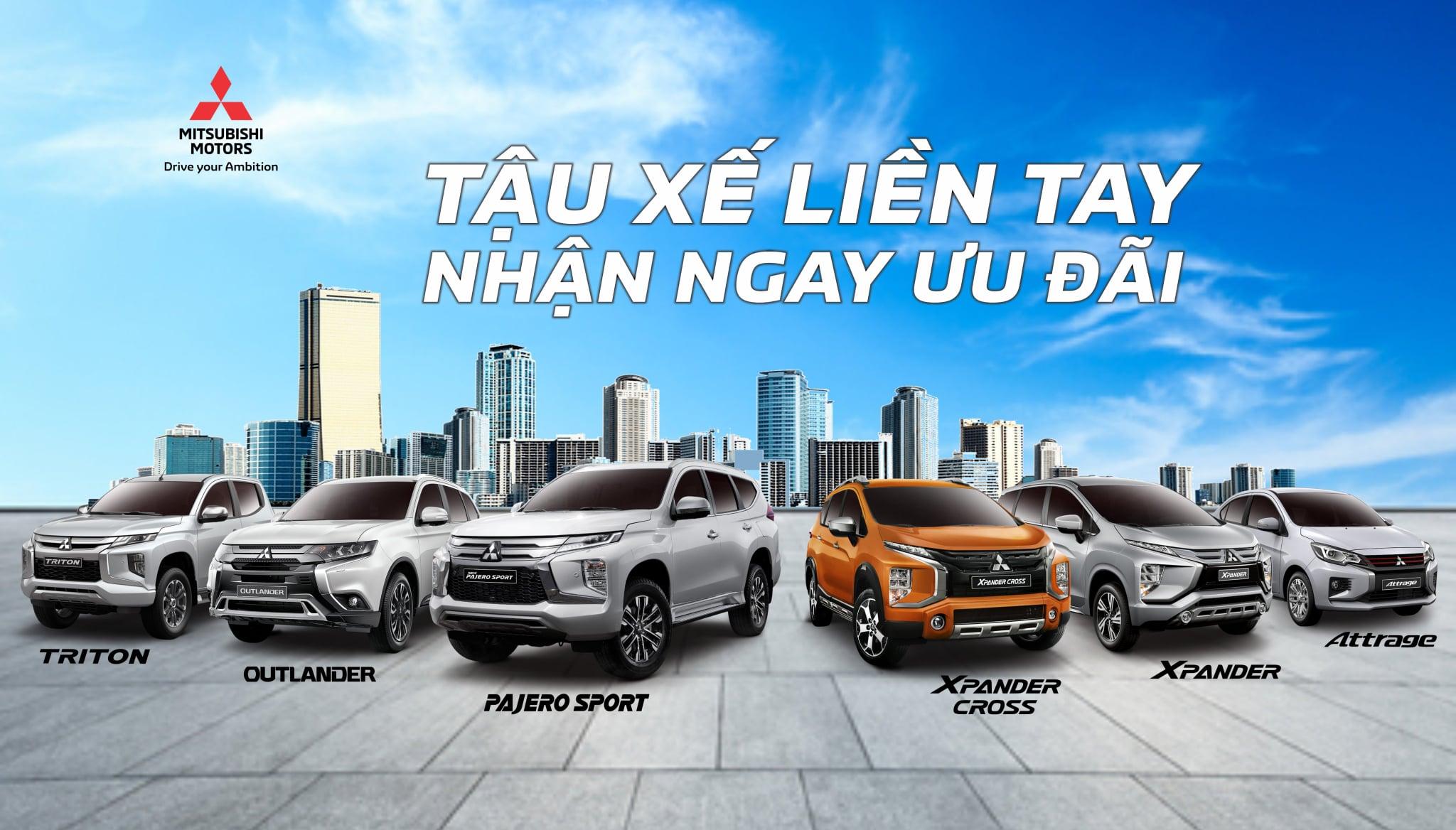 Mitsubishi Phú Thọ áp dụng chương trình giảm giá xe và tặng 50% lệ phí trước bạ cho khách hàng